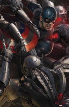 Capitão América e Viúva Negra nas novas artes conceituais de Vingadores 2
