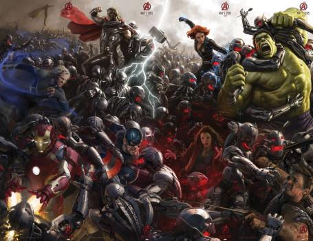 Hulk, Thor e o mega pôster de Vingadores 2!