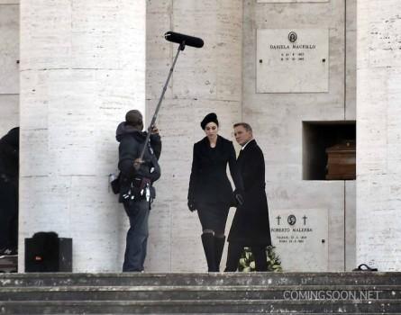Veja com a gente Monica Bellucci e Daniel Craig nas gravações de 007 – Spectre