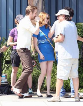 Emma Stone e Ryan Gosling gravam La La Land