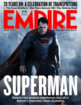 Batman  e Superman nas capas da Empire