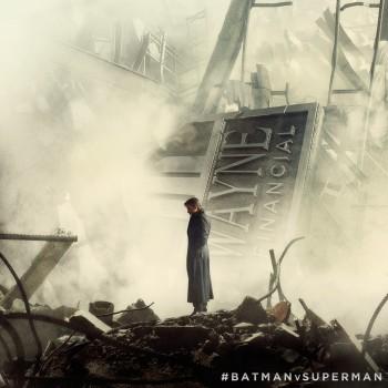 Cenário de destruição em nova foto de Batman Vs Superman