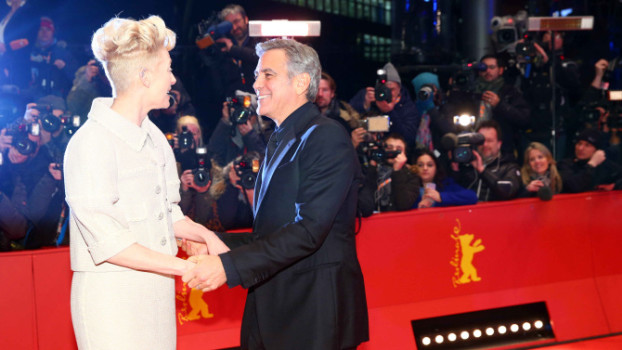 Mandatory Credit: Photo by Willi Schneider/REX/Shutterstock (5585928r) Tilda Swinton and George Clooney 'Hail, Caesar!' film premiere and Opening Ceremony, 66th Berlinale International Film Festival, Berlin, Germany - 11 Feb 2016