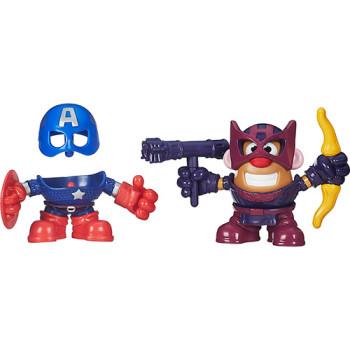 Boneco Mr. Potato Head Mashups Marvel Capitão América e Hawkeye - Hasbro - R$ 59,99