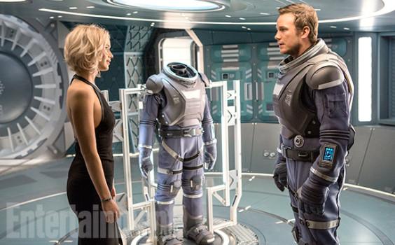Passageiros ganha suas primeiras imagens com Jennifer Lawrence e Chris Pratt