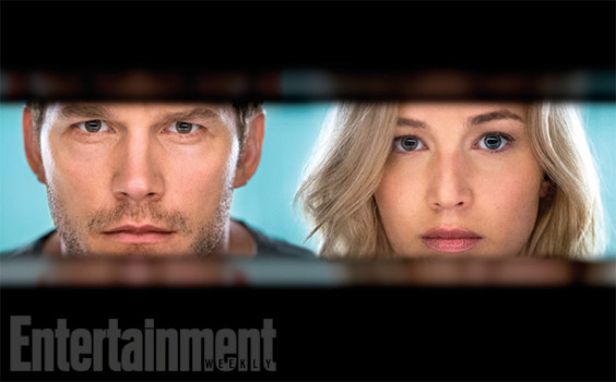 Passageiros, estrelado por Jennifer Lawrence e Chris Pratt, ganha cartaz