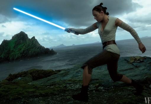 Rey, Leia e Finn em cartazes de Star Wars: Os Últimos Jedi