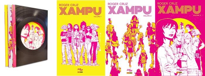 Trilogia de HQs Xampu ganha box especial